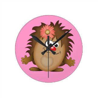 Cute Cartoon Hedgehog Clocks