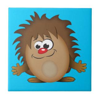 Cute Cartoon Hedgehog Tile