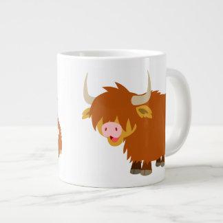 Cute Cartoon Highland Cow Giant Coffee Mug