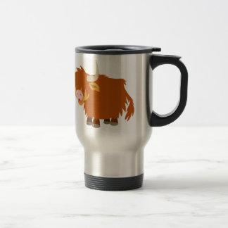 Cute Cartoon Highland Cow Travel Mug
