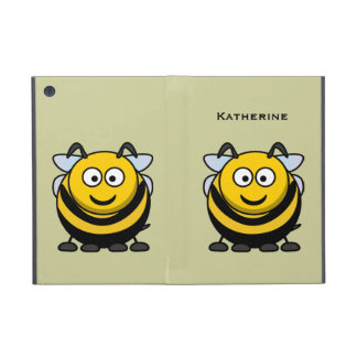Cute Cartoon Honey Bumble Bee Optional Wording Covers For iPad Mini