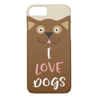 Cute Cartoon I Love Dogs iPhone 8/7 Case