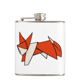 Cute Cartoon Illustration Of A Origami Fox Flask