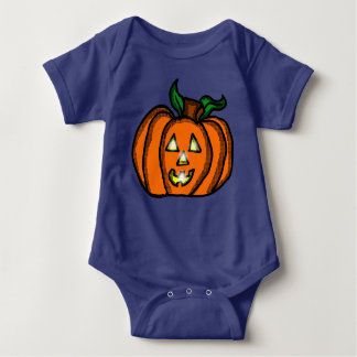 Cute Cartoon jackolantern Pumpkin Baby Bodysuit