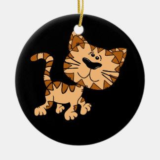 Cute Cartoon Kitty Cat Ceramic Ornament
