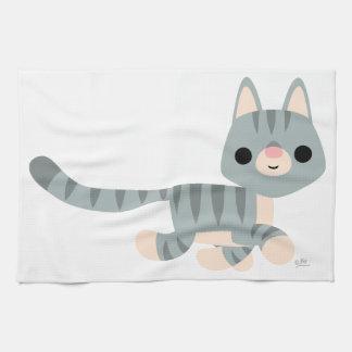 Cute Cartoon Kitty Kitchen Towel