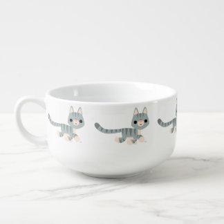 Cute Cartoon Kitty Soup Mug