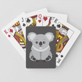 Cute cartoon Koala Bear Playing Cards
