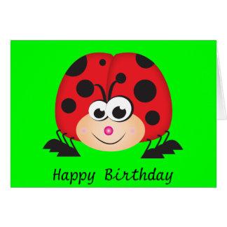 Cute Cartoon Ladybug Card