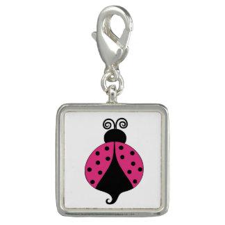 Cute Cartoon Ladybug Charm Key Chain