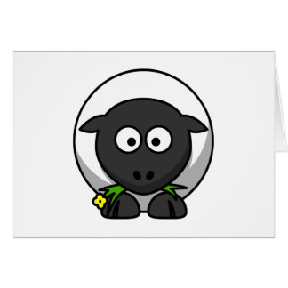 Cute Cartoon Lamb Card