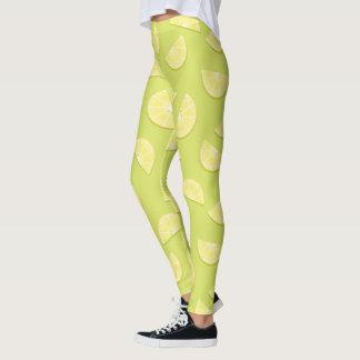 Cute cartoon lemon pattern leggings