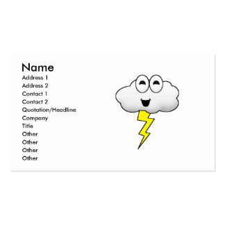 Cute Cartoon Lightning Cloud Business Cards