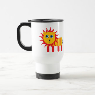 Cute Cartoon Lion Stainless Steel Travel Mug
