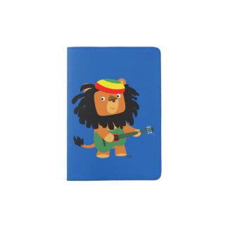 Cute Cartoon Lion Of Zion Passport Holder