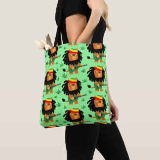 Cute Cartoon Lion Of Zion Tote Bag