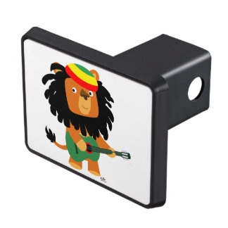 Cute Cartoon Lion Of Zion Trailer Hitch Cover