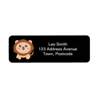 Cute cartoon Lion Return Address Label