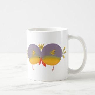 Cute Cartoon Love Birds Basic White Mug