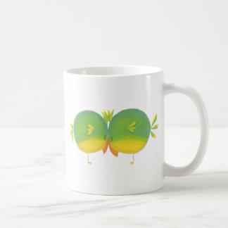 Cute Cartoon Love Birds Classic White Coffee Mug