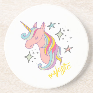 Cute Cartoon Majestic Unicorn Coaster