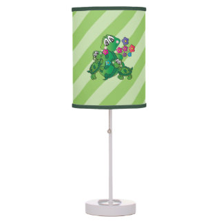 Cute Cartoon Momma Turtle and her Babies Table Lamp