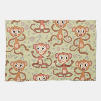 Cute Cartoon Monkeys Towel