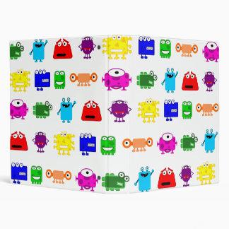 Cute Cartoon Monsters Binder