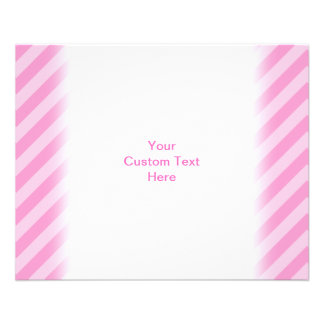 Cute Cartoon Mouse on Pink Stripes. Full Color Flyer