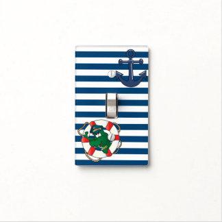 Cute Cartoon Nautical Alligator Light Switch Cover