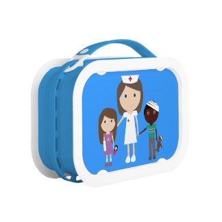 Cute Cartoon Nurse & Children Lunch Box