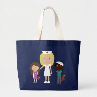 Cute Cartoon Nurse & Children Tote Bag