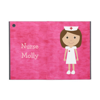 Cute Cartoon Nurse Personalized Pink Cases For iPad Mini