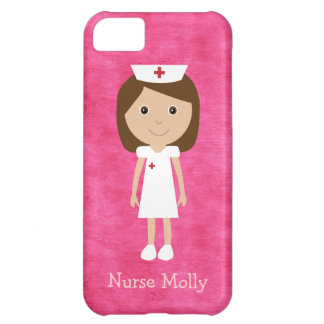 Cute Cartoon Nurse Pink Cover For iPhone 5C