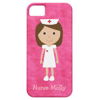 Cute Cartoon Nurse Pink iPhone 5 Cases