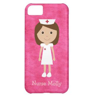 Cute Cartoon Nurse Pink iPhone 5C Cases
