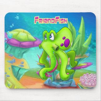 Cute cartoon octopus mouse pad