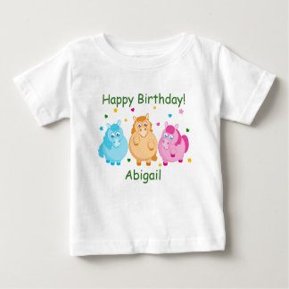 Cute cartoon of little colorful ponies, baby T-Shirt