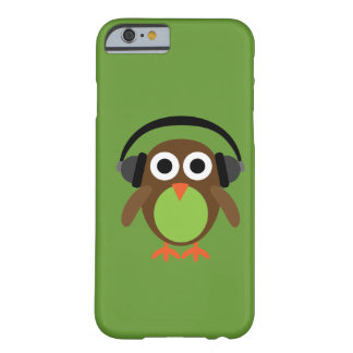 Cute Cartoon Owl DJ With Headphones Barely There iPhone 6 Case
