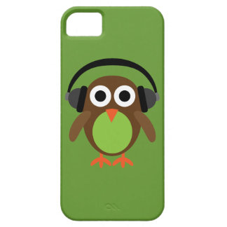 Cute Cartoon Owl DJ With Headphones Case For The iPhone 5