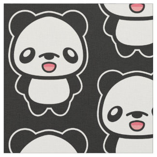Cute Cartoon Panda Pattern Fabric
