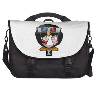 Cute Cartoon Penguin at the Movies Commuter Bag