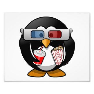 Cute Cartoon Penguin at the Movies Photograph