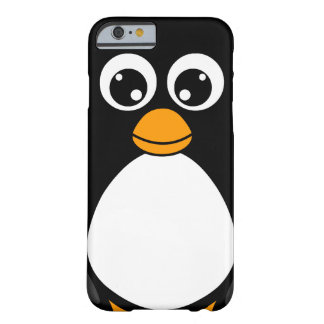 Cute Cartoon Penguin Black and White Barely There iPhone 6 Case