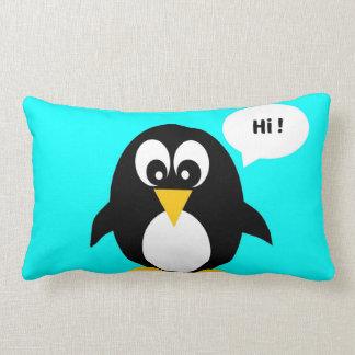 Cute cartoon penguin blue hi pillow