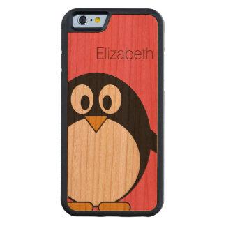 Cute Cartoon Penguin Illustration with Custom Name Cherry iPhone 6 Bumper