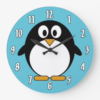Cute Cartoon Penguin Wallclock