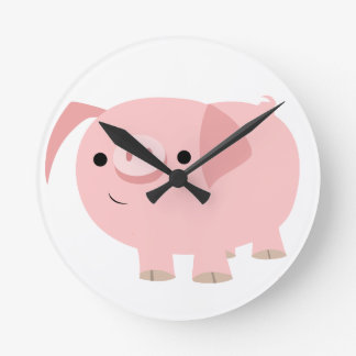 Cute Cartoon Pig Clock