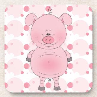 Cute Cartoon Pig Coasters