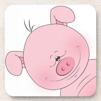 Cute Cartoon Pig Drink Coaster